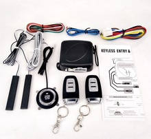 Alarma Auto Remote Start Central Locking System keyless entry Push PKE Stop With Alarm 2 Control