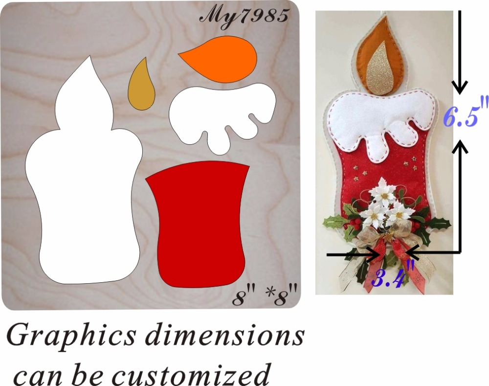 Candle Home Party Pendant wood moulds die cut accessories wooden die Regola Acciaio Die Misura MY