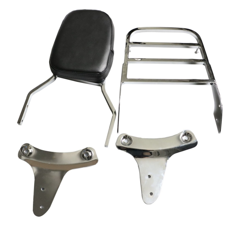 Motorcycle Rear Sissy Bar Backrest Luggage Rack For Honda Shadow ACE VT400 1992-1998 Shadow ACE VT750 C2 RC44 1997-2003