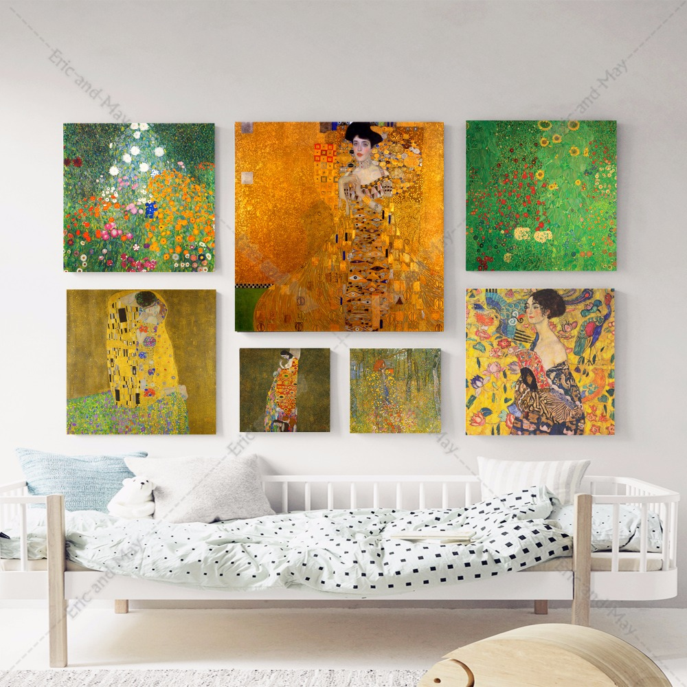 square canvas art promotion shop for promotional square canvas art gustav klimt 1905 1918 canvas art print painting poster wall pictures for living room home decorative bedroom decor no frame
