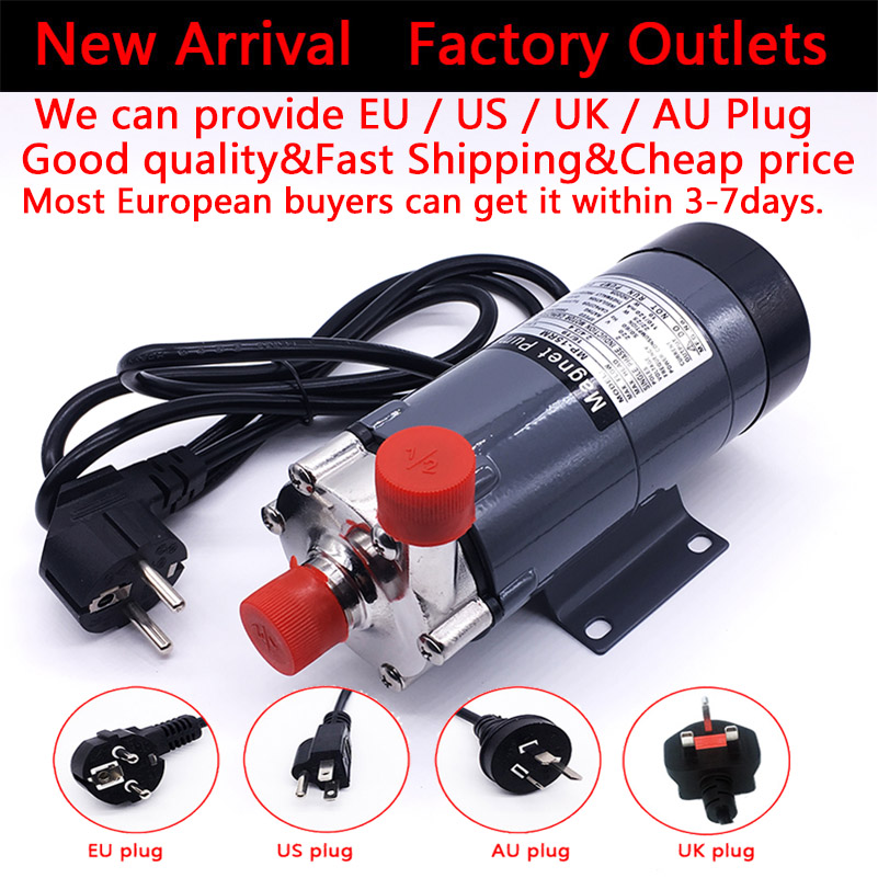 HomeBrew Pump MP- 15R Food Grade 304 Stainless Steel Brewery Beer Home brew 220V Magnetic Drive Water Pump Temperature 140C 1/2 high head mp 30rzm interface thread 13mm acid magnetic drived pump food grade water pump