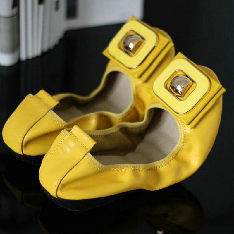 Ballet black En Femme yellow Bout Rond slip Mocassins De Simples Chaussure Apricot Chaussures red Véritable Cuir Slip Appartements on Wedge Non Femmes Casual Paillettes nXwO08Pk