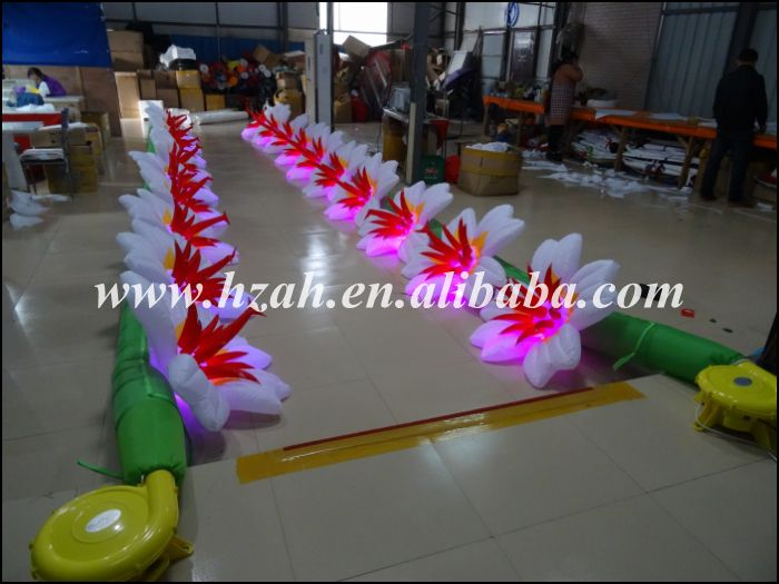 Hete verkoop LED Light opblaasbare Flower Road bruiloft - Meubilair