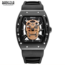 BAOGELA Luxury Brand New Design Pirate Skull Style Mens Quartz Watch Fashion Casual Military Sport Watches men Relogio Masculino