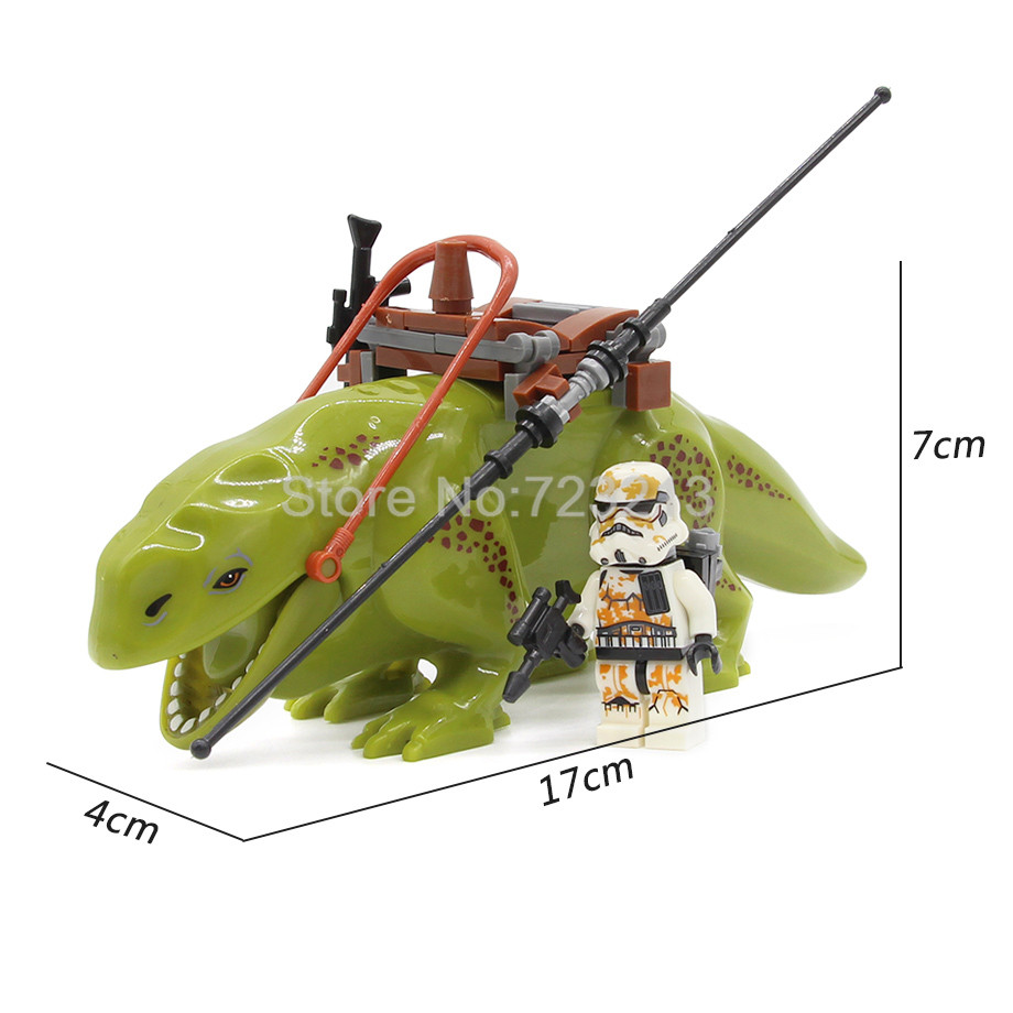 17cm Big Dewback Block Space Wars With Sandtrooper Figure Set Building Blocks Models Educational Toys For Children Legoing
