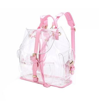 1be44cc09255 Новые прозрачные Рюкзаки милые водонепроницаемые Прозрачные школьные сумки Женский  рюкзак для девочек-подростков