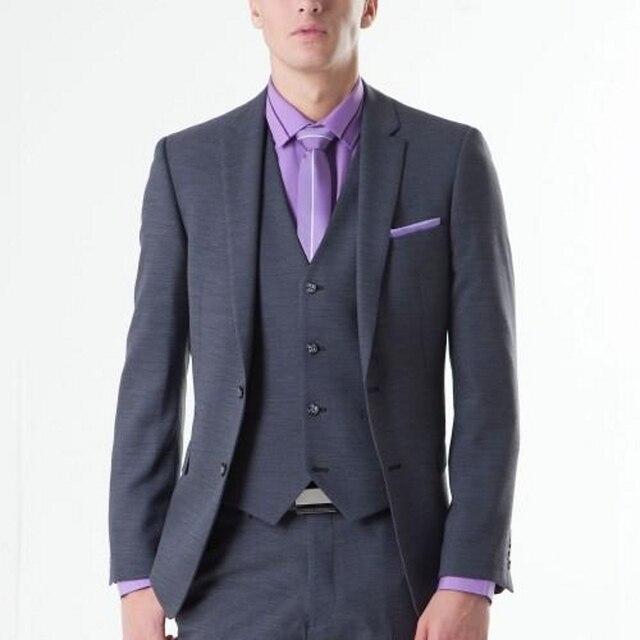 (Chaqueta + Pant + Vest) Hombres de Negocios Traje Formal Establece Slim Fit Smoking Del Novio Por Encargo Del Partido de La Boda trajes Vestidos Para Ocasiones Especiales