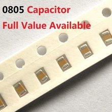 Kit de capacitor de cerâmica 200 pçs, 0805 peças, 100resistentes, 150nd, 220f, 330f, 470resistente, 1uf, 50v, 104, 154, 224, 334, 474 105 k/m/z 0.1/0.15/0.22/0.33/0.47/uf