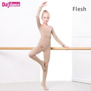 Image 3 - Kalınlaşmak kızlar bale iç çamaşırı takım elbise çıplak dans tayt Leotard bale streç dans giyim kış için