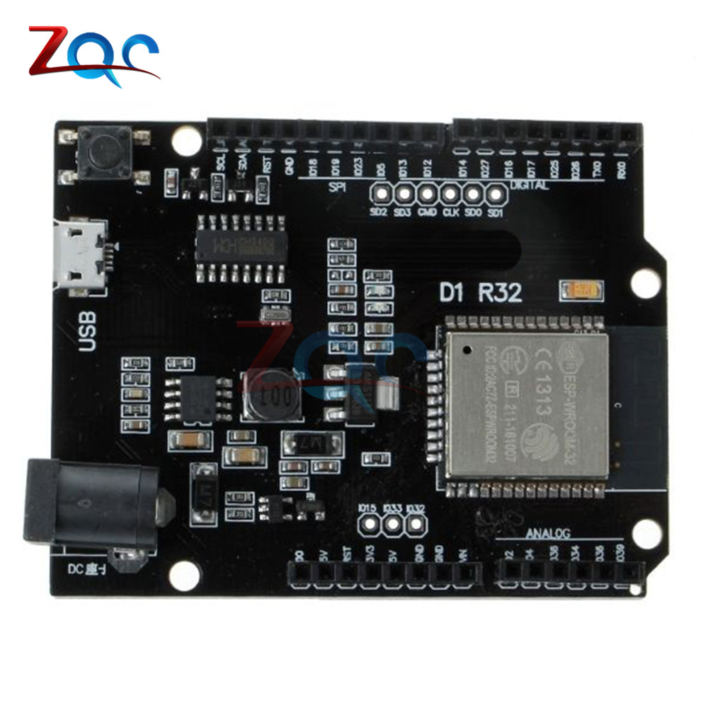 For ESP32 WiFi Bluetooth 4MB Flash For Wemos D1 R32 Development Board Module For Arduino UNO R3 One цена 2017