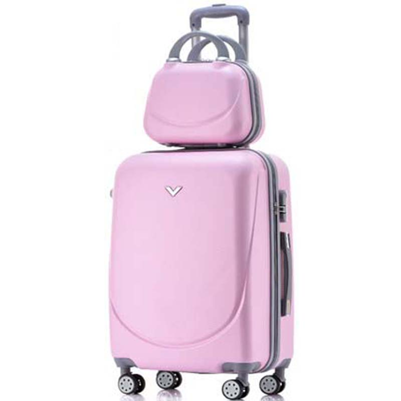 LeTrend Korean Retro Rolling Luggage set Spinner 24 inch Suitcase Wheels 20 inch Students Cabin Trolley