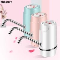 Kbxstart Portable Electric Water Pump Dispenser USB Charging Gallon Drinking Bottle Switch Absorber Quantitaty Water Tap Pump