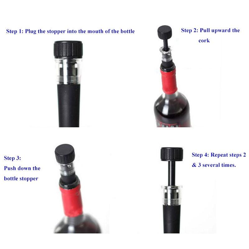 Red Wine Tool Vacuum Freshness Retaining Bottle Stopper Preserver Sealer Plug Cap Air Pump for Bottles Kitchen Bar Accessories