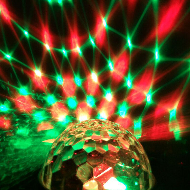 Newest US Plug RGB 3W Crystal Magic Ball Stage Lighting For Party Disco DJ Bar Bulb Lighting @8 JD9