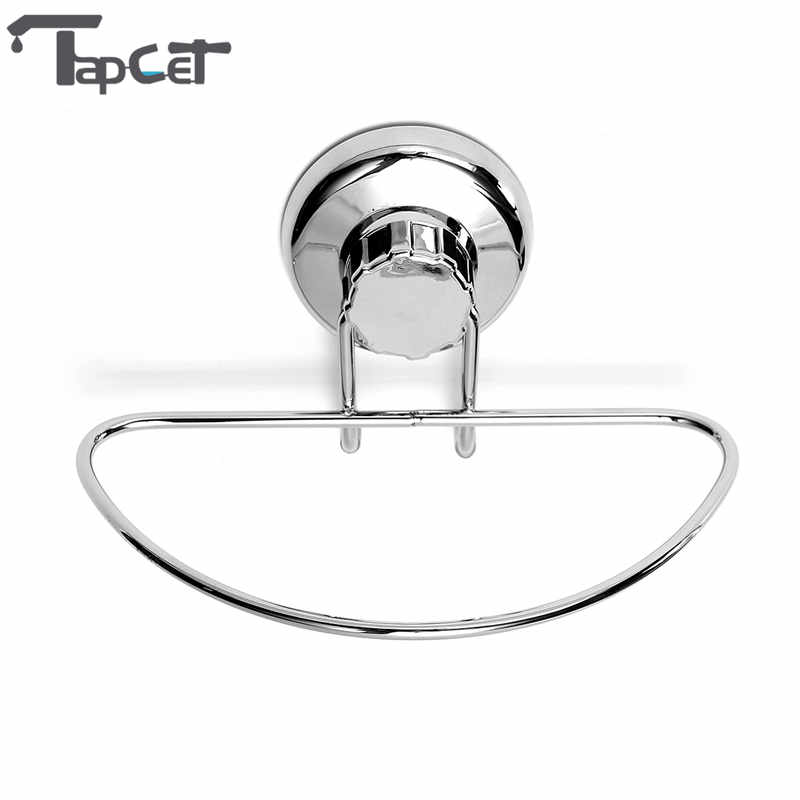 TAPCET Suction Cup Stainless Steel Towel Rings Towel Holder Wall Mounted Bathroom Towel Racks For Bathroom Accessories