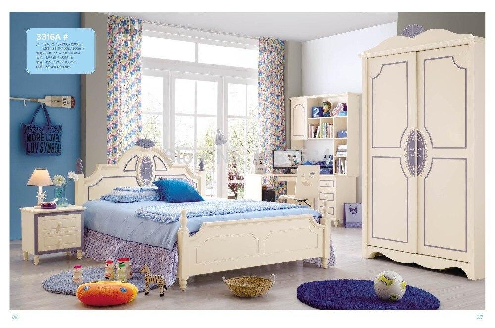 3316 Children Bedroom Furniture Sets Children Bed Sliding