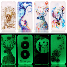 AKABEILA Luminous Silicon Phone Case For Huawei Y5 II Y5II Cover Y6 Ii Compact CUN-U29 Honor 5A LYO-L21 Y5 2 Y5 2nd Housing Bags