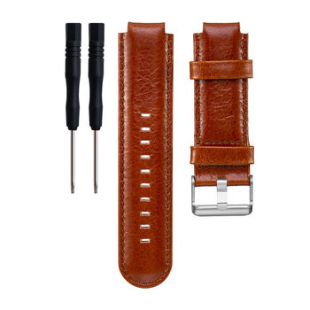 668c6e6e70b3 10 unids lote reemplazo Cuero auténtico pulsera banda de reloj +  herramienta para Garmin vivoactive