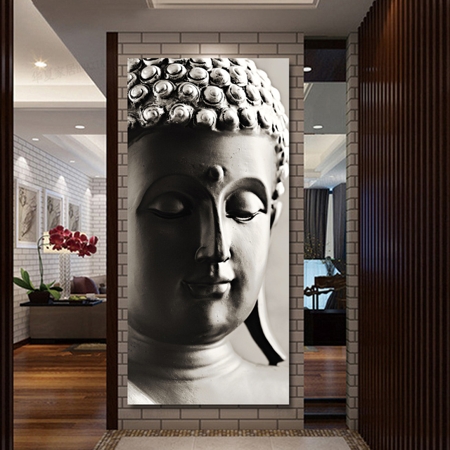 Poster Buddha Art Canvas Wall Art Buddha Picture Landscape Canvas Painting  Modern Living Room Decorative Drop Part 29