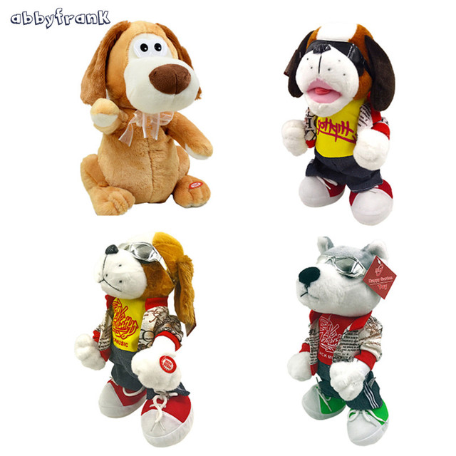 Abbyfrank Electronic Musical Dogs Pet Toys Soft Plush Educational Interactive Dolls Kids Toys Birthday Gifts Jouet Enfant