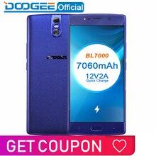 DOOGEE BL7000 7060 мАч 12V2A Быстрая зарядка 5,5 ''FHD MTK6750T Восьмиядерный 4 Гб ОЗУ 64 Гб ПЗУ смартфон Двойная камера 13,0 МП Android 7,0