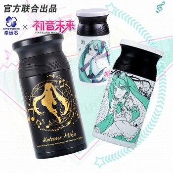 Аниме фигурки Хацунэ Мику, модель термоса, кружка, бутылка, вакуумная, нержавеющая сталь, манга, для ролевых игр, Kagamine RIN & LEN Vocaloid