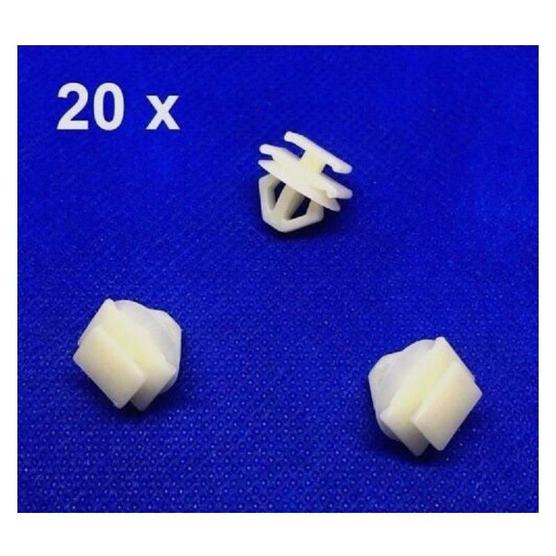 20x Honda Plastic trim Clips For exterior door mouldings side trim /& bumpstrip