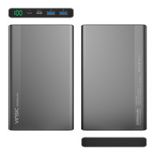 VINSIC Power Bank 20000 mAh Dual USB Portable Powerbank External Battery Charger for iphone/Samsung Android Device/Tablet PC
