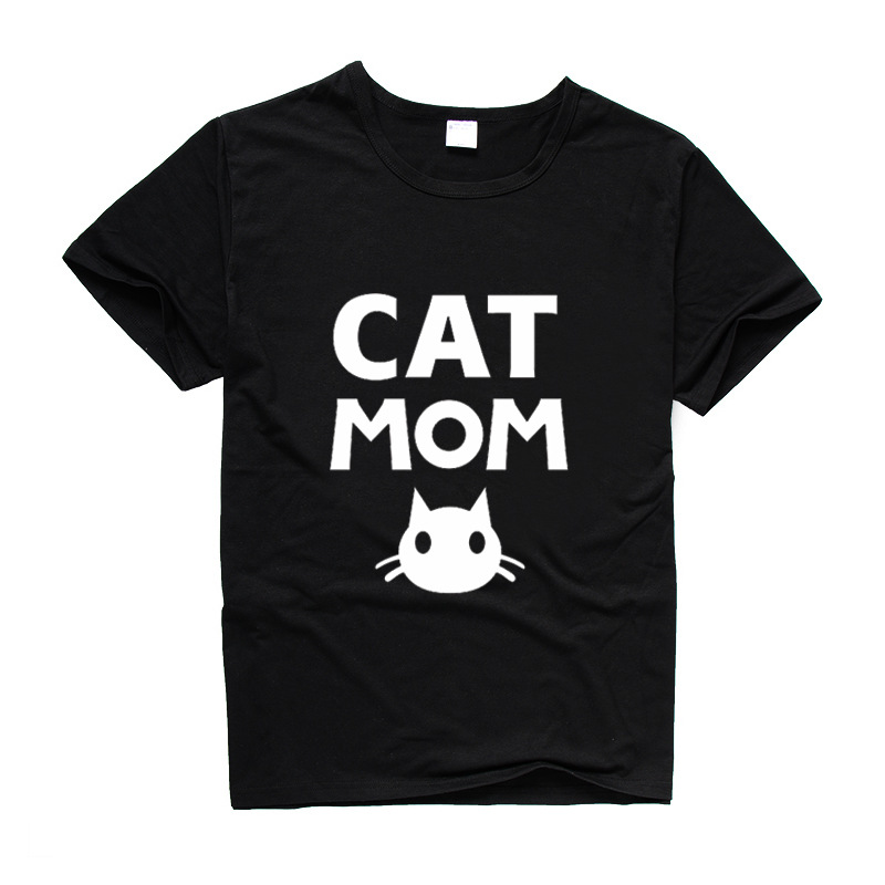 2019 New summer t-shirt women kawaii cute sweet cotton CAT MOM letters print t shirt women tee shirt femme t-shirts tees tops