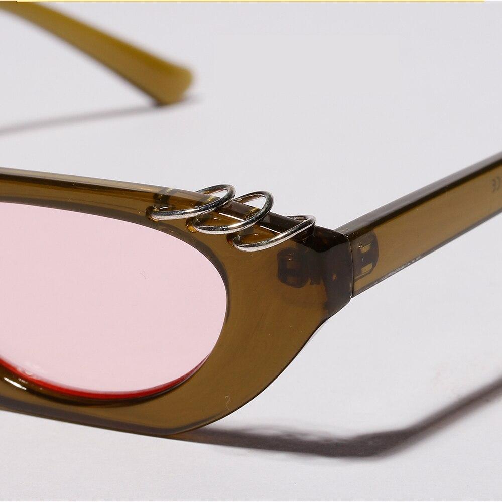 8bb135fa2f475 Peekaboo minúsculos óculos de sol para as mulheres do vintage 2019 verão  leopardo preto azul das senhoras pequeno óculos de sol para homens presente  De ...