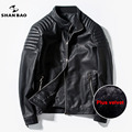 Winter men's leather thickening plus warm large code pu jacket man slim motorcycle leather jacket men 2016 brand men's clothing