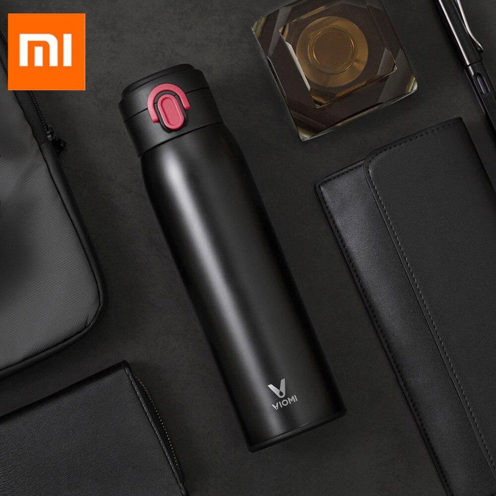 Original Xiaomi Mijia VIOMI 460 ml Edelstahl Vakuum Isolierte Becher Versiegelt Wasser Flasche 24 Stunden Thermos Vakuum AUF/ schließen
