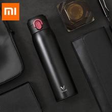 Оригинальный Xiaomi Mijia VIOMI 460 мл нержавеющая сталь вакуумной изоляцией кружка Герметичная Бутылка Для Воды 24 часа термос на/закрыть
