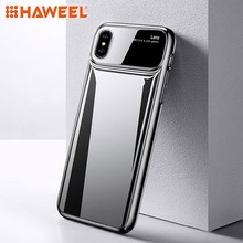 HAWEEL Phone Case for iPhone X / XS Max /XR Magic Mirror Series Shockproof PC + Glass Protective Cover
