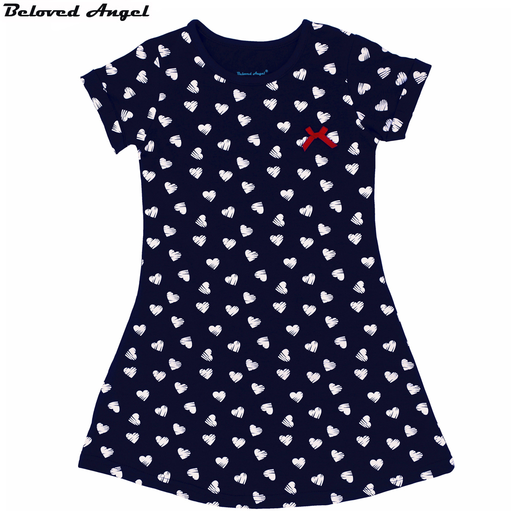 Beloved Angel 1 - 7 Year Girls Dresses 100% Cotton Summer Kids Fashion Style Princess Heart-Shaped Dress Children New Clothing скатерть angel ya children tsye zb266 88