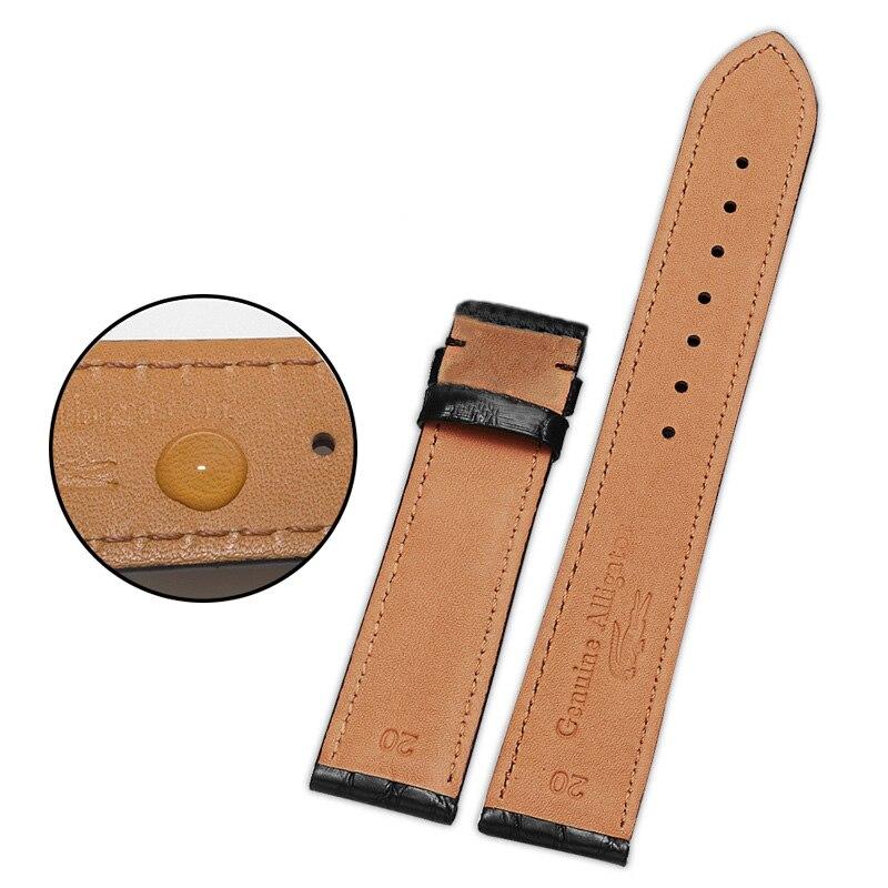 DOM bracelets de montre de rechange en cuir de Grain de Crocodile avec boucle de déploiement pour hommes et femmes 18mm 20mm 22m accessoires de montre - 4