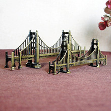 New Home Decoration American Travel Model Plating Work Souvenirs Golden Gate Bridge Gift