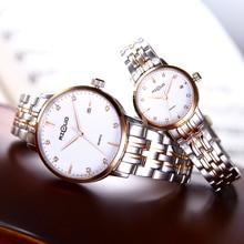 Горячие Продажи любителей Моды Часы класса люкс кварцевый для женщины мужчины часы из нержавеющей стали Наручные Часы водонепроницаемый пару часов
