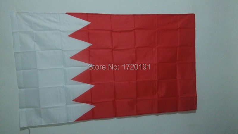 world flying natioal flag hundred percent polyester printed Bahrain flags and banners 3*5ft decoration outlast banner