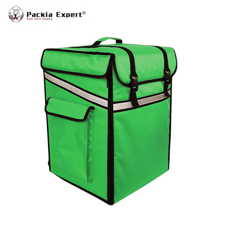 L 15 * W 15 * H22 Whole Sale Customized Logo Backpack Model Food Delivery Bag 14inches Pizza Insulation Bag image