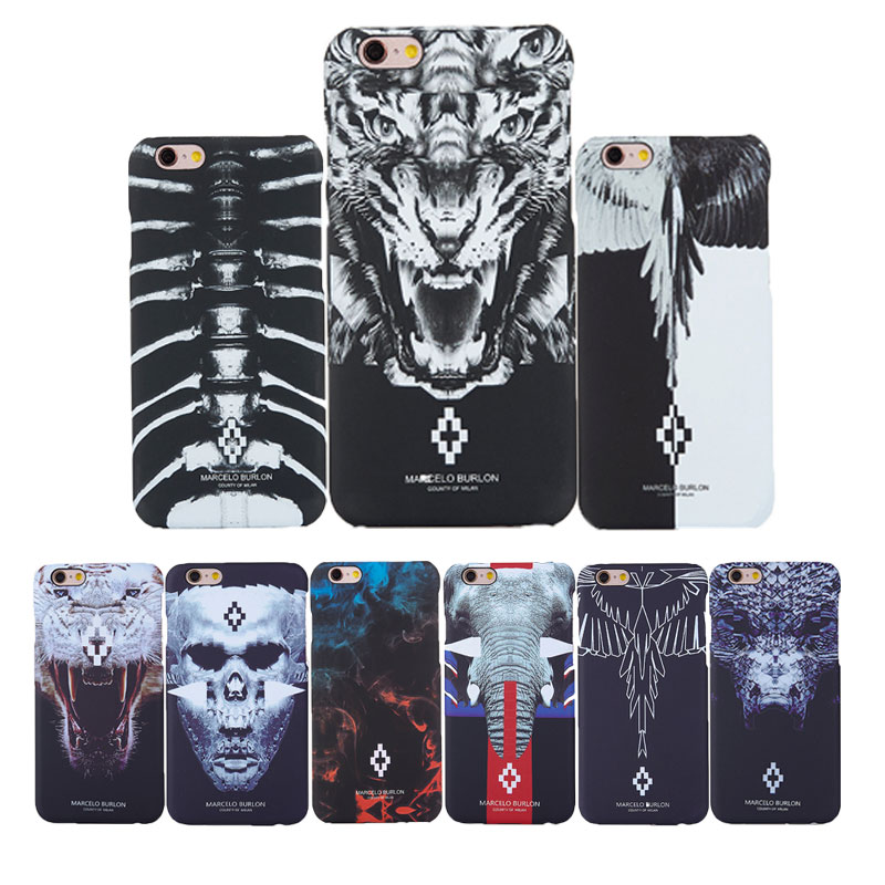miglior servizio a8731 5335f Marcelo burlon Case for iPhone 6 6S Tiger Fox Wings Fundas Cover for iPhone  7 5 5s plus Cases Marcelo Hard PC Case Capa Coque
