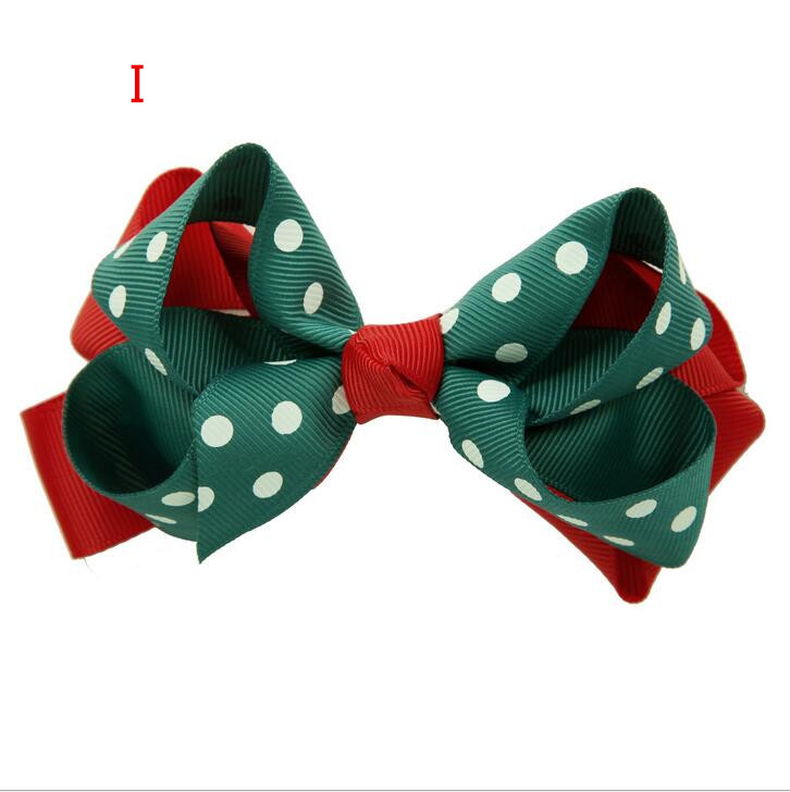 100pcs Christmas Double Layered Boutique Lush Hair Bow
