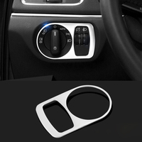 Car Styling Stainless Steel Headlight Switch Button Sequins Dedicated Interior Chrome Trim Cover For Audi Q3 2013 2016 Sequins