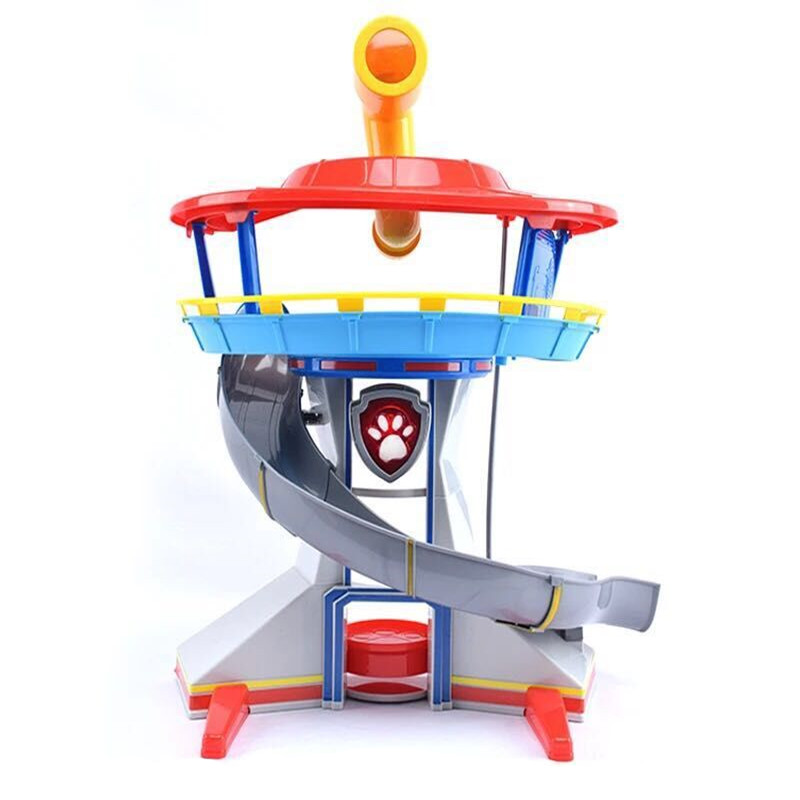 Paw Patrol Dog Puppy Anime Observation Tower Toy Set Patrulla Canina Action Figure Model Children Gifts