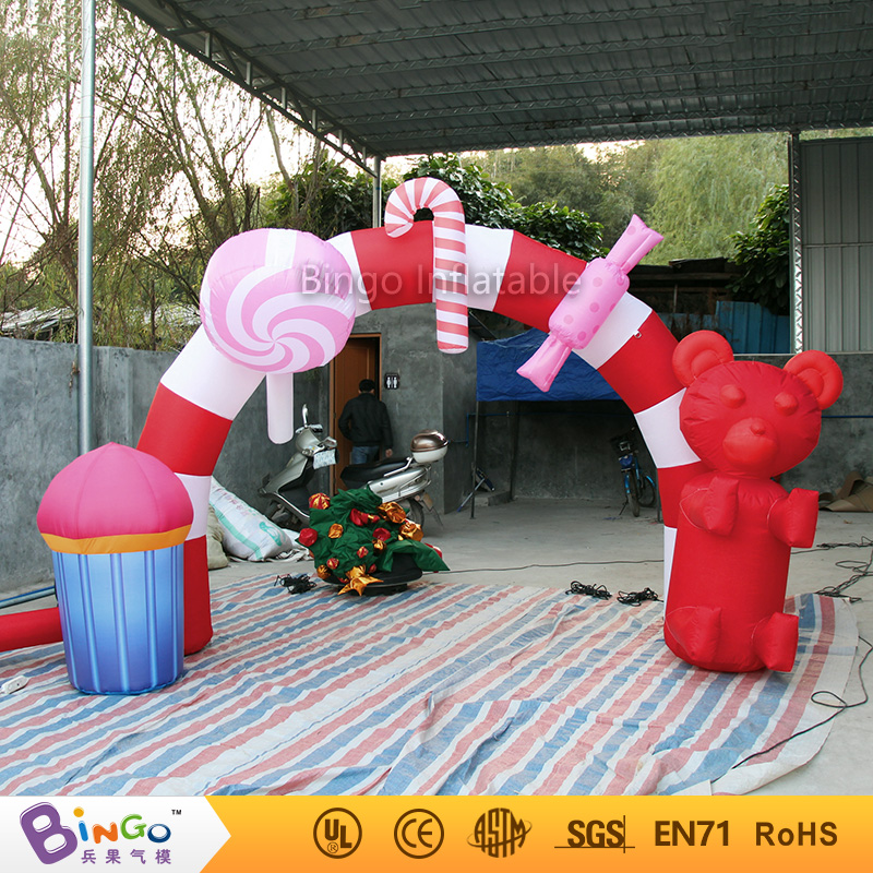 Christmas 3x2.5m inflatable sweet candy arch door for Christmas party decoration festival toy 2017 vioslite 2 1m inflatable christmas tree with bag in high quality for festival decoration
