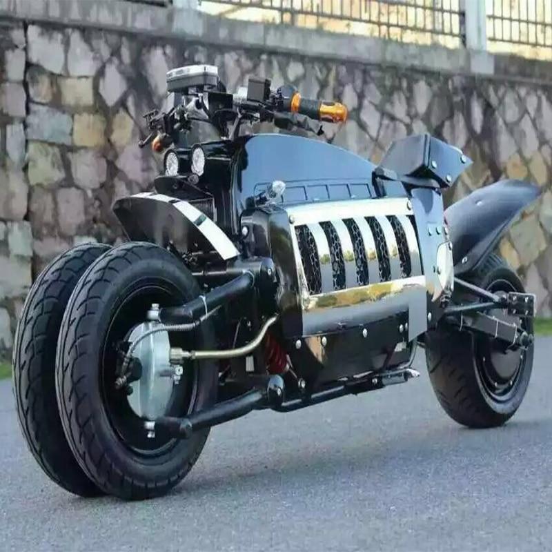 Moto électrique électrique citycoco scoote quatre roues motos 60V1500W plomb acide batteries unique siège avec 80 km/h
