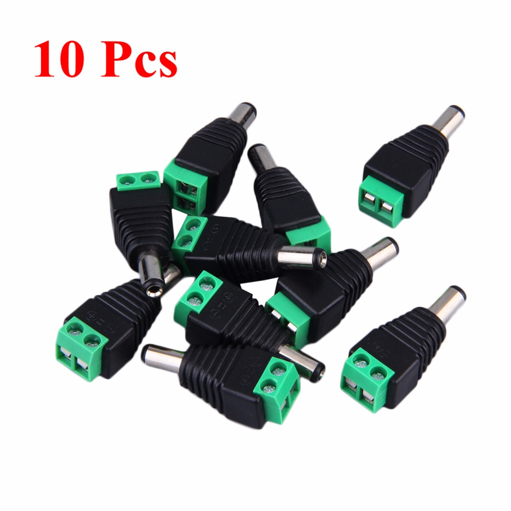 12V Male+Female 2.1x5.5MM DC Power Jack Plug Adapter Connector for CCTV Single Color LED Strip Light 2 1 x 5 5mm female dc connector male dc power connector plug jack adapter socket for led strip cctv camera