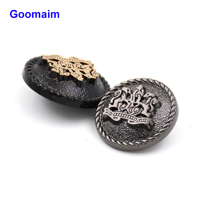 Apparel Sewing & Fabric 50pcs Relief Double Lion Metal Buttons Sewing Jean Metal Buttons For Ladies Sweater Fashion Coat Buttons For Jeans Home & Garden