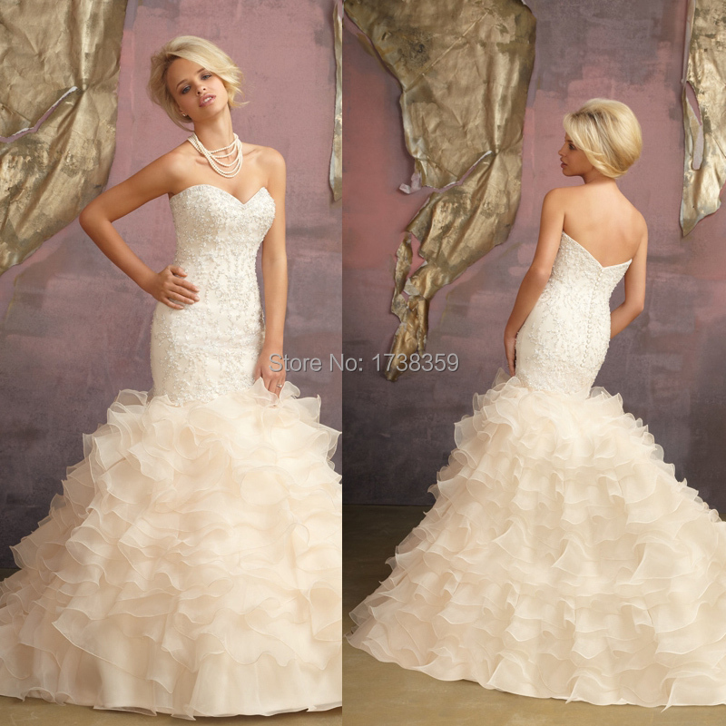 Online Get Cheap Strapless Mermaid Wedding Dresses with Corset ...