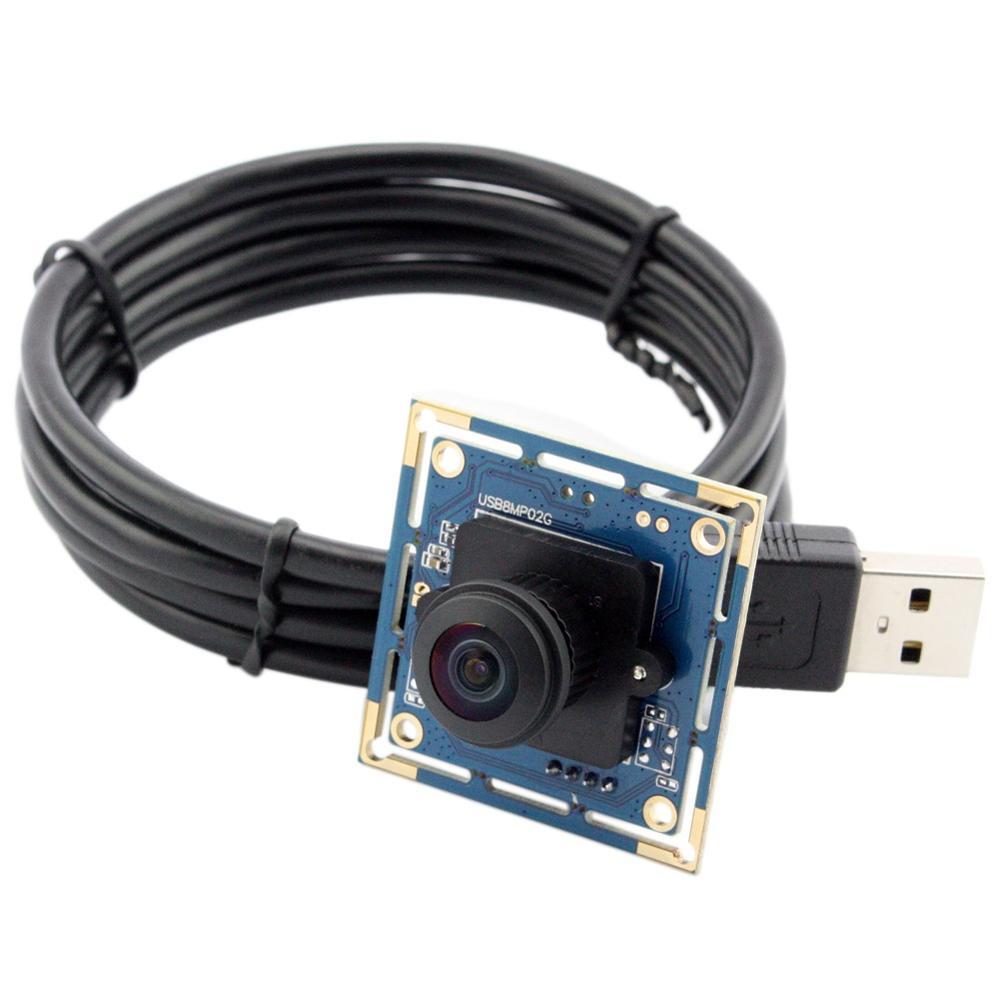 ELP 8MP SONY IMX179 HD Wide Angle 180degree Fisheye Lens Industrial Machine vision Webcam Camera Module Andorid Linux Windows